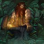 A dwarven blacksmith