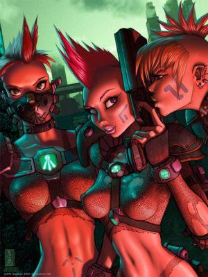 Electric Boogaloo, sexy cyberpunk girls.